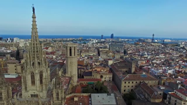 catedral de barcelona - gothic quarter barcelona stock videos and b-roll footage