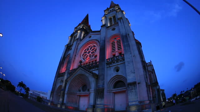 catedral de fortaleza- cearã¡ - 2k resolution stock videos and b-roll footage