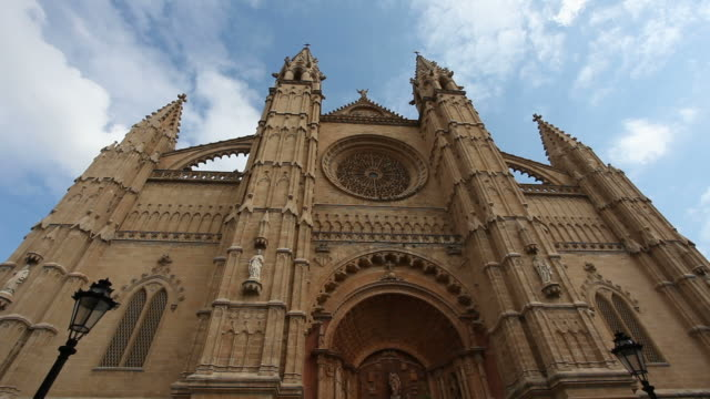 catedral de mallorca - time lapse - cathedral stock videos & royalty-free footage