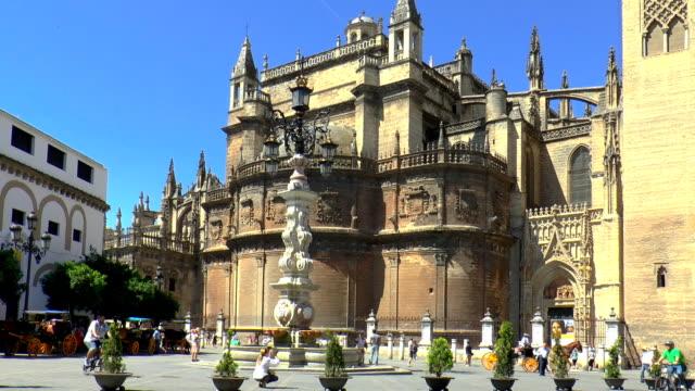 catedral de sevilla - seville, spain - andalucia stock videos & royalty-free footage