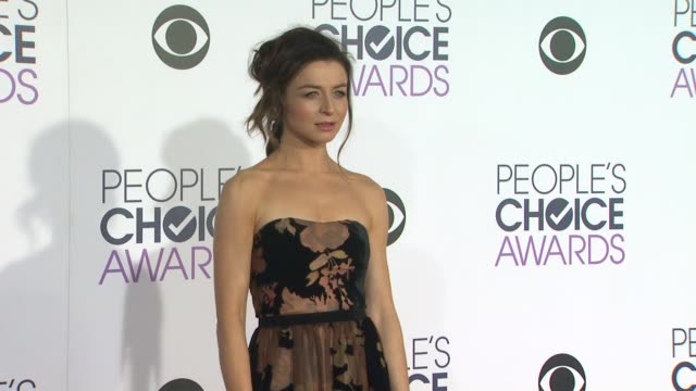 Caterina Scorsone at the People's Choice Awards 2016 at Nokia Plaza LA LIVE on January 6 2016 in Los Angeles California