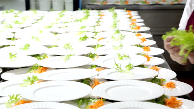 catering food preparation. - banquet stock videos & royalty-free footage
