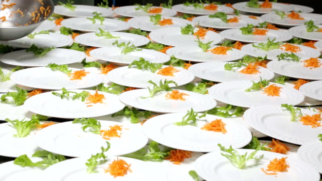 Catering food preparation.