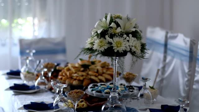Catering eten tabel ingesteld decoratie