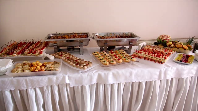 Catering food table