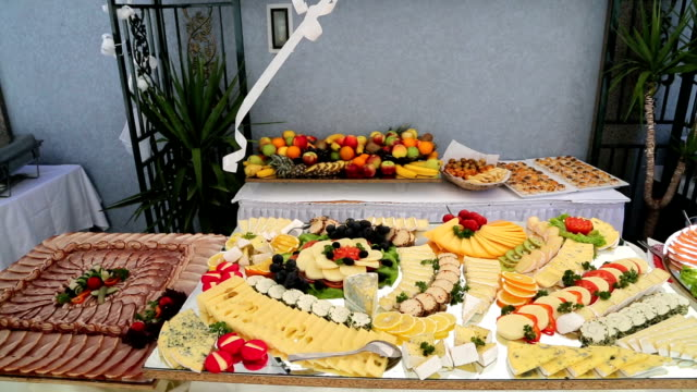 catering food - lunch stock videos & royalty-free footage