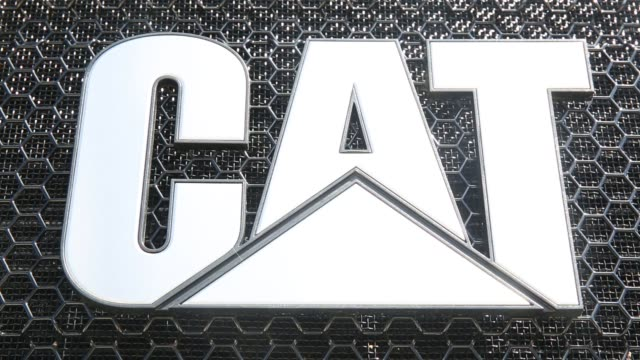 caterpillar construction equipment sits in rows in a lot at the altorfer cat dealership in east peoria illinois on july 21 2015 shots close up shots... - illinois stock videos and b-roll footage