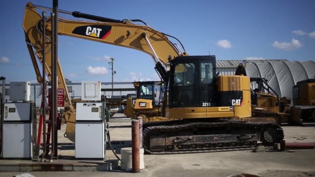 caterpillar inc equipment and machinery is displayed for sale at whayne supply co in lexington kentucky us on monday oct 17 2016 - caterpillar inc video stock e b–roll