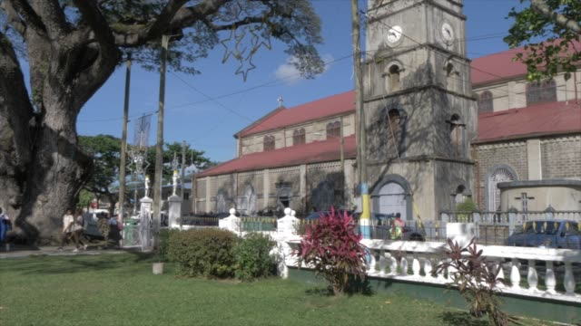 cathedral basilica of the immaculate conception in derek walcott square, castries, st. lucia, windward islands, west indies, caribbean, central america - st. lucia stock videos & royalty-free footage
