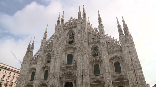 cathedral basilica of the nativity of saint mary in milan - marble stock videos & royalty-free footage