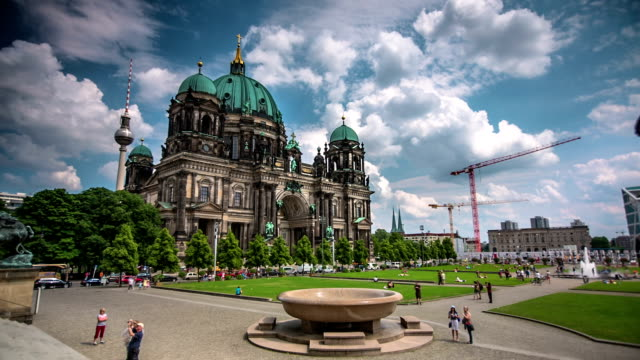 time lapse: cathedral in berlin, germany - east berlin stock videos and b-roll footage