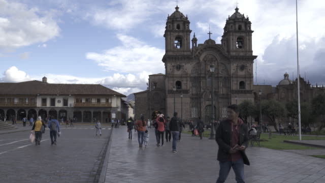 Cathedral in Cusco, Peru at the Plaza Des Armas