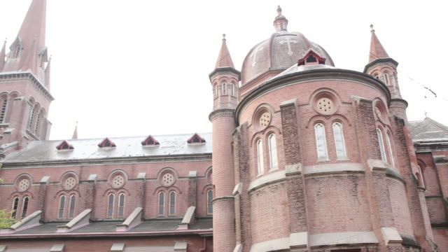 cathedral in lahore , pakistan - lahore pakistan stock videos & royalty-free footage