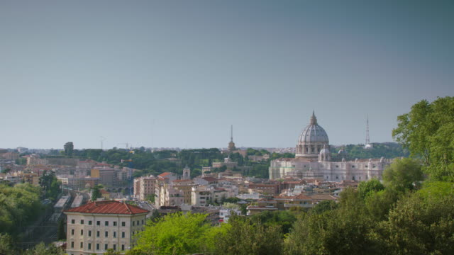 ws cathedral in rome - dome stock videos & royalty-free footage