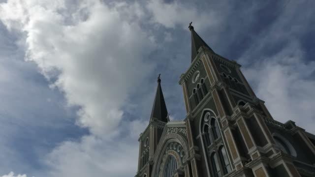 vídeos de stock e filmes b-roll de cathedral in thailand - catolicismo