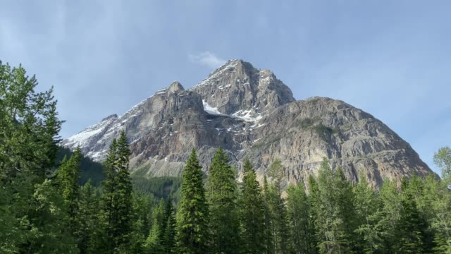 cathedral mountain im yoho-nationalpark, britisch-kolumbien, kanada - naturwunder stock-videos und b-roll-filmmaterial