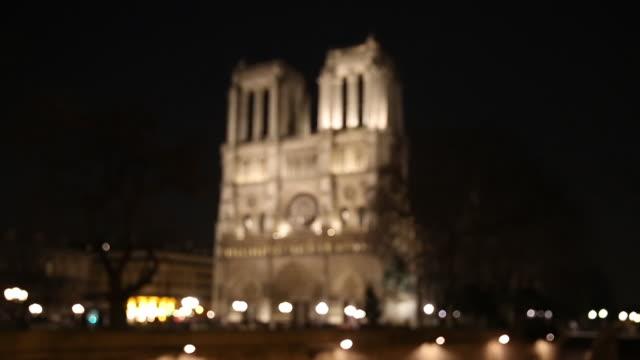cathedral of notre dame de paris, france. - notre dame de paris stock videos and b-roll footage
