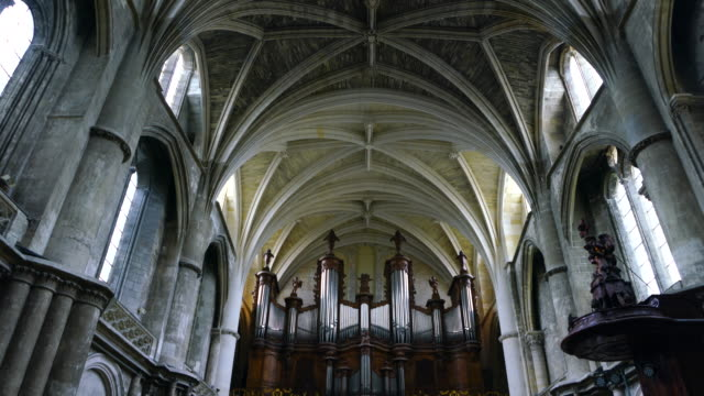 cathedral of saint andrew, pey beland square, bacalan quay, bordeaux city, nouvelle aquitaine, france, europe - gothic stock videos & royalty-free footage