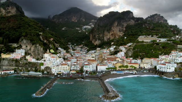 cathedral of saint andrew the apostle and harbour, amalfi, amalfi coast, italy - apostle stock videos and b-roll footage