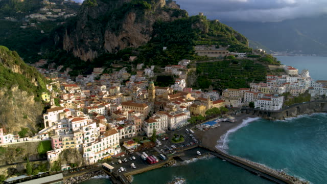 Cathedral Of Saint Andrew The Apostle And Harbour, Amalfi, Amalfi Coast, Italy
