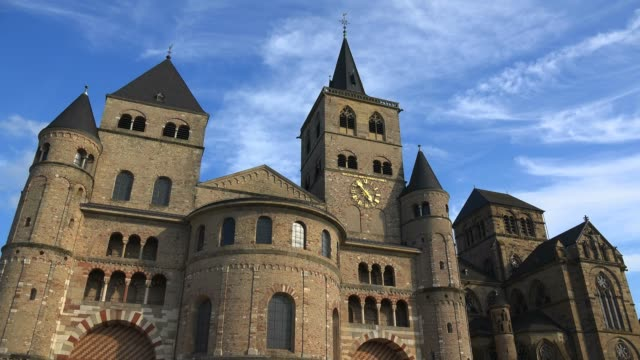 cathedral of saint peter and church of our lady, trier, rhineland-palatinate, germany, europe - germany stock videos & royalty-free footage