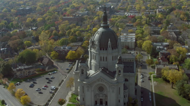 cathedral of st paul in st paul minnesota - minnesota stock videos & royalty-free footage