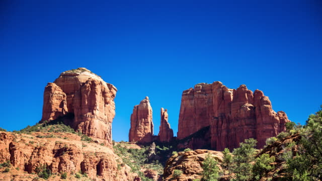 cathedral rock - timelapse - sedona stock videos & royalty-free footage