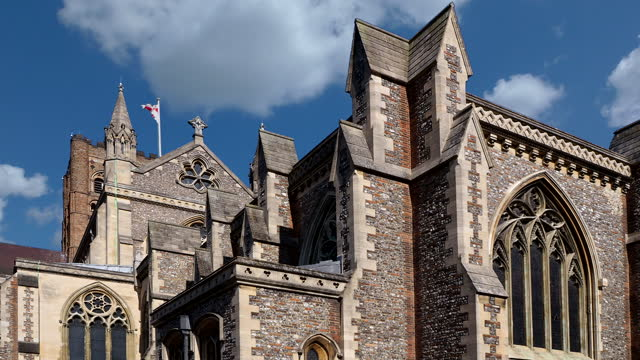 cathedral - st albans, england - digital enhancement stock videos & royalty-free footage