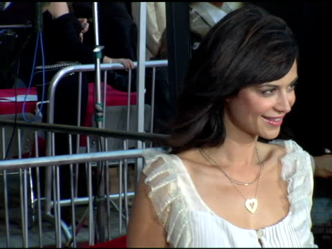 catherine bell at the 'collateral' los angeles premiere at the orpheum theatre in los angeles, california on august 2, 2004. - orpheum theatre stock videos & royalty-free footage