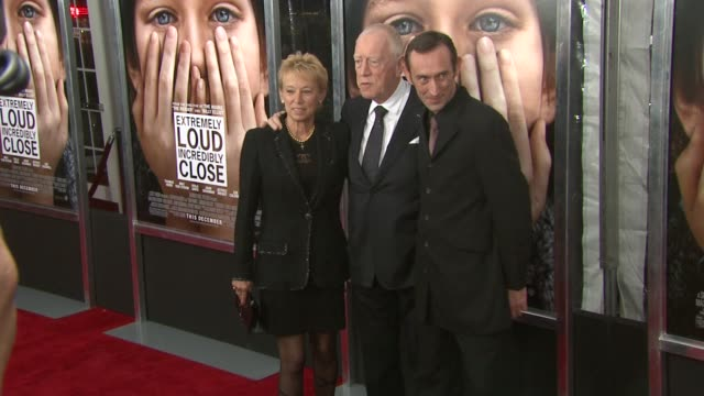 Catherine Brelet Max von Sydow and Cedric Brelet von Sydow at 'Extremely Loud Incredibly Close' New York Premiere New York NY United States