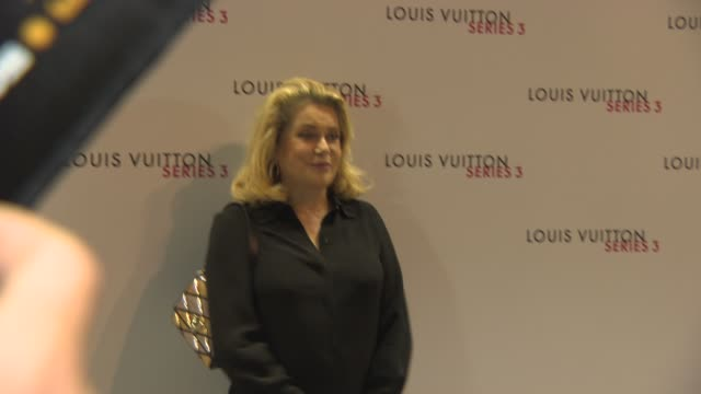 catherine deneuve at louis vuitton series 3 vip launch at the strand on september 20, 2015 in london, england. - ブランド ルイヴィトン点の映像素材/bロール