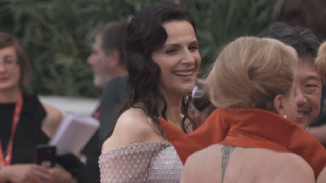 catherine deneuve, juliette binoche at the 76th venice film festival on august 26, 2019 in venice, italy. - べネチア国際映画祭点の映像素材/bロール