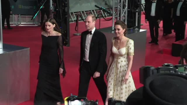 catherine, duchess of cambridge and prince william, duke of cambridge attend the attend the 70th ee british academy film awards bafta in london... - red carpet event stock videos & royalty-free footage