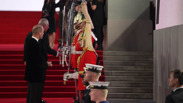 """catherine, duchess of cambridge, prince william, duke of cambridge, camilla, duchess of cornwall and prince charles, prince of wales attend the """"no... - premiere event stock videos & royalty-free footage"""