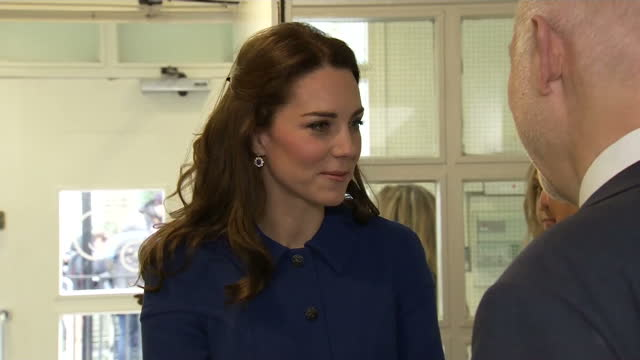 catherine, duchess of cambridge visited the anna freud centre, of which she is a royal patron, to learn about its early years parenting unit. shows... - royal blue stock videos & royalty-free footage