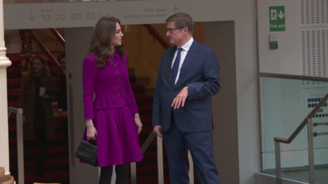 4K Catherine Duchess of Cambridge visits the Costume Department at The Royal Opera House at The Royal Opera House on January 16 2019 in London England