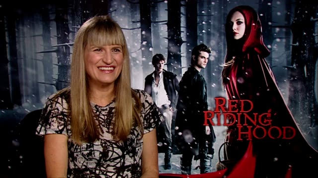 Catherine Hardwicke on how Amanda Seyfried says crazy stuff that will shock you at the Red Riding Hood Interviews at London England