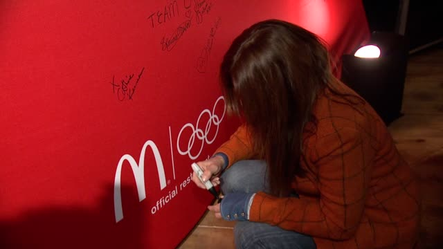catherine keener at mcdonald's mccafe presents the wireimage portrait studio at village at the lift on in park city utah - mcdonald's stock videos and b-roll footage