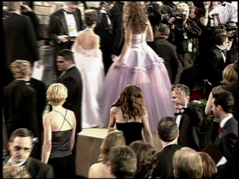 catherine keener at the 2000 academy awards at the shrine auditorium in los angeles, california on march 26, 2000. - 第72回アカデミー賞点の映像素材/bロール