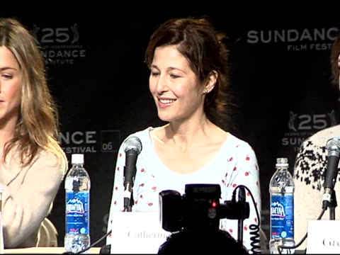 catherine keener at the 2006 sundance film festival friends with money press conference on january 20 2006 - money press stock videos and b-roll footage