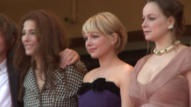 Catherine Keener Michelle Williams and Samantha Morton at the 2008 Cannes Film Festival 'Synecdoche New York' in Cannes on May 23 2008