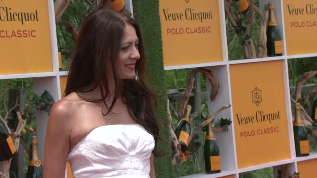catherine malendrino at the fifth annual veuve clicquot polo classic at liberty state park on june 02 2012 in jersey city new jersey - 動物を使うスポーツ点の映像素材/bロール