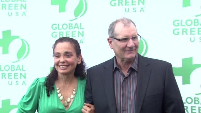 catherine rusoff ed o'neill at the global green usa celebrates 15th annual millennium awards at santa monica ca - catherine rusoff stock videos & royalty-free footage