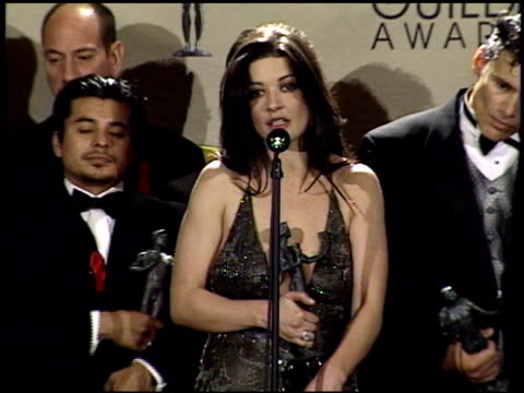Catherine Zeta Jones at the 2001 Screen Actors Guild SAG Awards press room at the Shrine Auditorium in Los Angeles California on March 11 2001