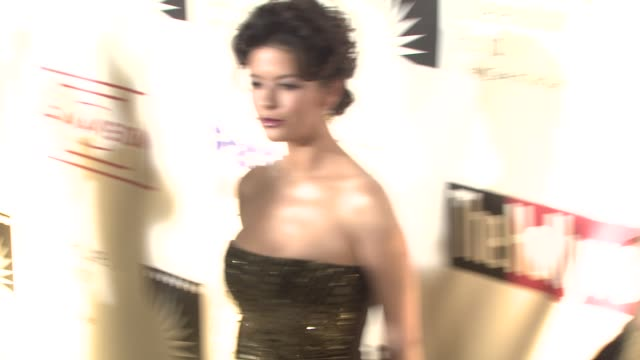 catherine zeta jones at the 'a fine romance' to benefit the motion picture television fund at los angeles ca - motion picture & television fund stock videos & royalty-free footage
