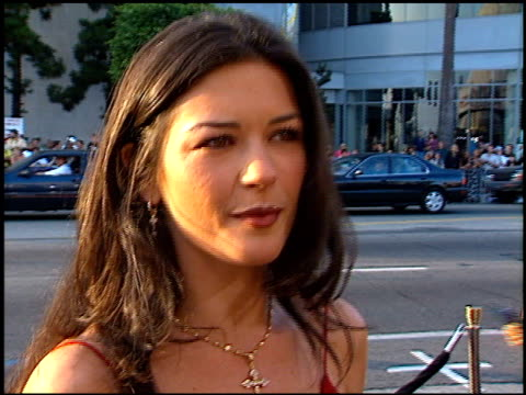 catherine zeta jones at the 'men in black' premiere at the cinerama dome at arclight cinemas in hollywood, california on june 25, 1997. - film premiere stock videos & royalty-free footage
