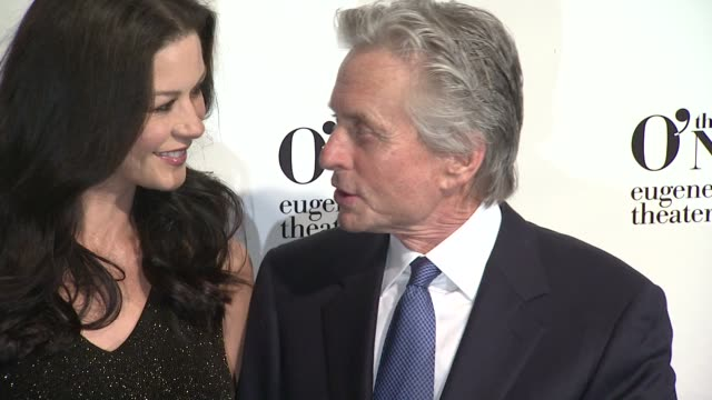 catherine zeta-jones and michael douglas at the 12th annual monte cristo awards - arrivals on 4/16/2012 in new york, ny, united states. - michael douglas stock videos & royalty-free footage