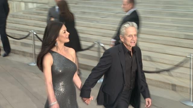 catherine zeta-jones and michael douglas at vanity fair party - 2012 tribeca film festival on 4/17/2012 in new york, ny, united states. - michael douglas stock videos & royalty-free footage