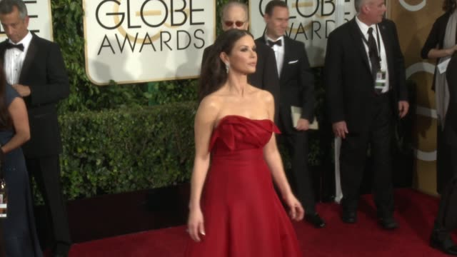 Catherine ZetaJones at 72nd Annual Golden Globe Awards Arrivals at The Beverly Hilton Hotel on January 11 2015 in Beverly Hills California
