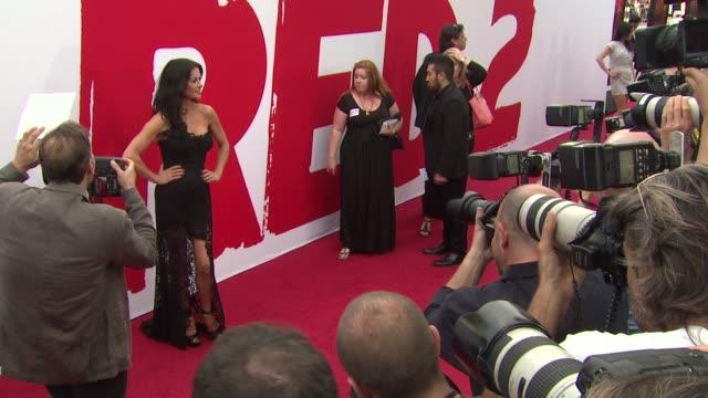 catherine zeta-jones at red 2 los angeles premiere on 7/11/2013 in westwood, ca. - catherine zeta jones video stock e b–roll